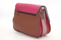 women\'s shoulder bag with three leather compartments, a unique and original bag 9