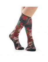 Women socks, viscose bamboo pattern Baya